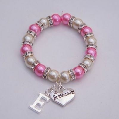 Bridesmaid Initial Bracelet - Full Sparkle Style